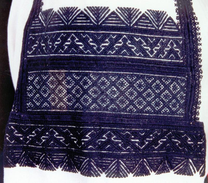 Верхняя часть рукава рубахи. Конец XIX в. Россия. Воронежская губерния