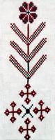 Рис. 1. Мотив древа жизни с обозначением корней в виде крестов