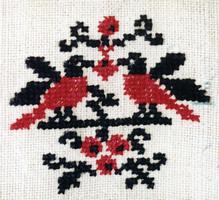 Рис. 5. Мотив дерева-куста с птицами