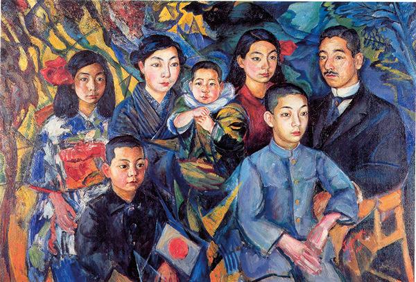 Давид Бурлюк. Семейный портрет. Японский период