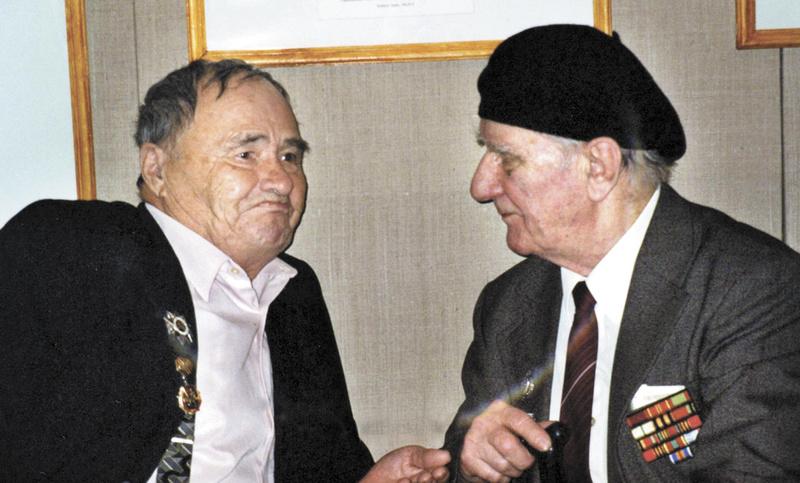 Сергей Алексеевич Бородин и Василий Евтропович Романов. 2001